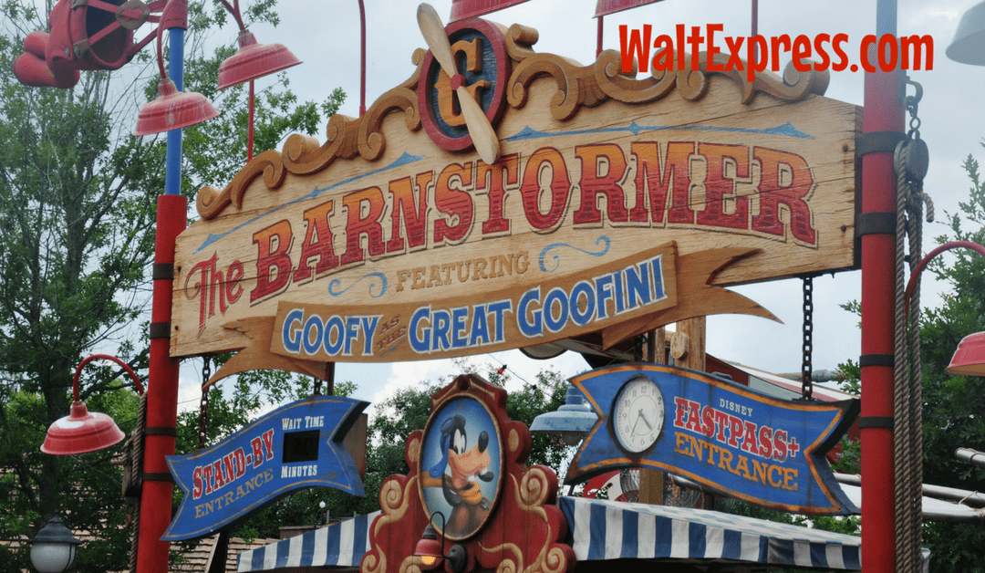 Video: The Barnstormer featuring the Great Goofini a Disney World Review