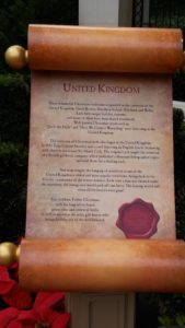Epcot's Father Christmas in the United Kingdom