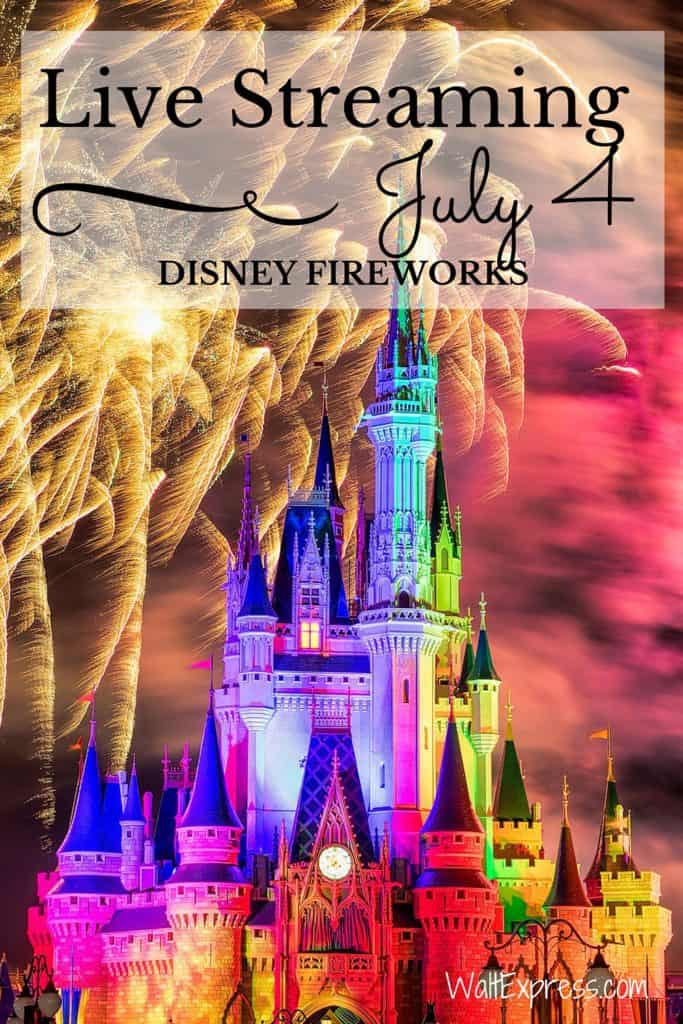 #DisneyParksLIVE Stream of Disney Fireworks