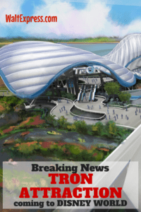 Breaking News: New TRON Attraction Coming To Magic Kingdom Park